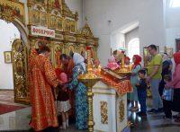 Архиерейская Литургия в Кафедральном соборе г. Карасука в Неделю о самаряныне (видео)