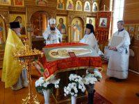 Архиерейское служение в Великую субботу в храме с. Ивановки Баганского района