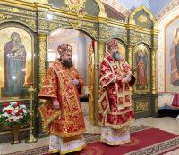 Епископ Филипп принял участие в совершении Литургии в храме в честь иконы Божией Матери «Скоропослушница»